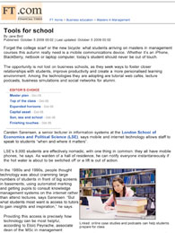 Financial Times, Tools for school, October 5 2009