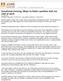 Financial Times, Vocational training, September 14 2009