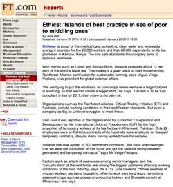 Financial Times, Ethics:Islands of best practice in sea of poor to middling ones, January 26 2010