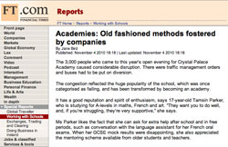 Financial Times, Academies: old fashioned methods fostered by companies