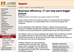 Financial Times, The Connected Business. Business efficiency: IT can help paint bigger picture