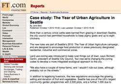 Financial Times, Cast study: The Year of Urban Agriculture in Seattle