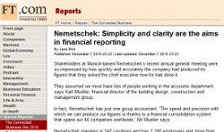 Nemetschek: Simplicity and clarity are the aims in financial reporting