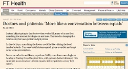 Doctors and patients: 'More like a conversation between equals'