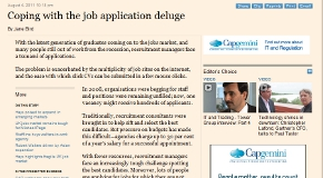 Coping with the job application deluge