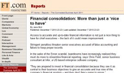 Financial consolidation: More than just a 'nice to have'
