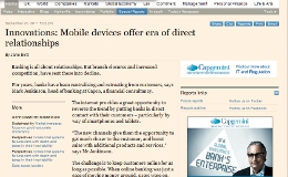 Innovations: Mobile devices offer era of direct relationships