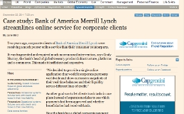 Bank of America Merrill Lynch streamlines online service for corporate clients