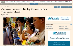 Customer research: testing the market is a vital 'sanity check'