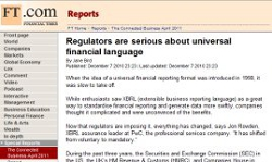 Regulators are serious about universal financial language