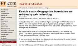 Flexible study: Geographical boundaries are redrawn by web technology