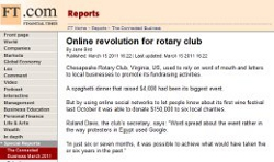 Online revolution for rotary club