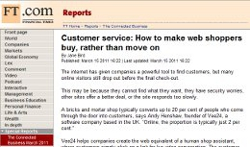 Customer service: How to make web shoppers buy, rather than move on